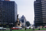 Mexico City, view of Columbus Monument and Paseo de la Reforma