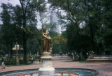 Mexico City, view of statue in Alameda Central park