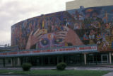 Mexico City, Teatro de los Insurgentes and Rivera mural