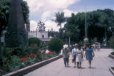 Cuernavaca, people walking through plaza