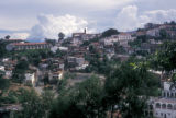 Taxco de Alarcón, view of community and clouds in the distance