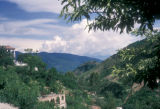 Taxco de Alarcón, panoramic view of hills and clouds