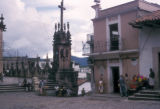 Taxco de Alarcón, people in the local plaza