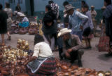 Toluca de Lerdo, market scene with pottery for sale