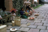 Toluca de Lerdo, view of residents weaving baskets and hats