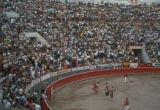 Ciudad Juárez, spectators and bullfighters at a bullfight