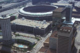 Saint Louis, view of Busch Stadium and downtown from Gateway Arch