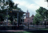 Albuquerque, Old Town plaza with San Felipe de Neri church in background