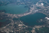 Madison, aerial view of city