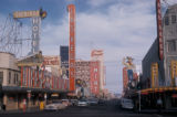 Las Vegas, view of Fremont Street business district