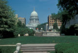 Madison, view of Olin Plaza and Capitol building