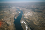 Saint Paul, aerial view of Mississippi River