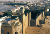 Rabat, panoramic view of waterfront and city walls