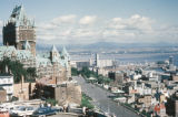 Quebec City, view of Chateau Frontenac Hotel and Lower Town