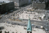 Copenhagen, view of City Hall square from tower