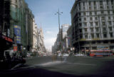 Madrid, Gran Via, street scene