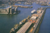 Barcelona, Aerial view, Port de Barcelona