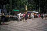 Barcelona, Los Ramblas, walkway of vendors and street performers