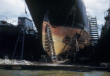 Amsterdam, ship in floating drydock