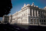 Madrid, east facade of National Palace