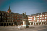 Madrid, Plaza Mayor with statue of King Philips III