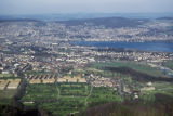 Zürich, view of city from Ütliberg