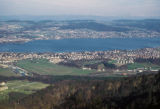 Zürich, view of Lake of Zurich from Ütliberg