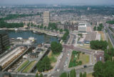 Rotterdam, view of city from Euromast observation tower