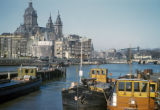 Amsterdam, Oosterdok port with St. Nicolas Church in background