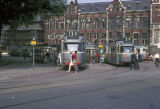 Amsterdam, street cars in front of central train station