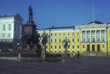 Helsinki, Senate Square with statue of Tsar Alexander II