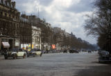 Paris, view down Champs-Elysees avenue