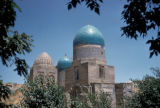 Samarkand, tiled dome of Shah-I-Zinda Necropolis