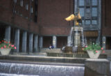 Oslo, fountain in front of City Hall