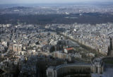 Paris, view of city and Bois de Boulogne park from Eiffel Tower