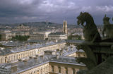 Paris, gargoyles on top of Notre Dame Cathedral