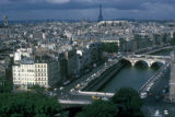 Paris, view of city with Eiffel Tower in background