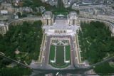 Paris, aerial views of Chaillot Palace
