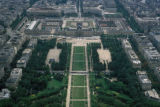 Paris, aerial view of Ecole militaire (military academy)