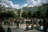 Paris, view of fountain in Forum des Halles