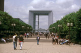 Paris, view of  the Grand Arch in La Defense business district