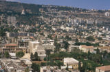 Haifa, view of lower town and Mount Carmel
