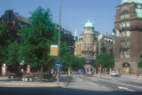 Stockholm, view of intersection at Engelbrektsplan