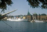 Stockholm, view of old town from Skeppsholmen