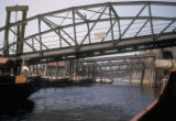 Hamburg, bridges to St. Pauli landing