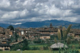 Bhaktapur, city view with Nyatapola Temple in distance