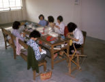 Hong Kong, women knitting