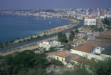 Luanda, panoramic view of palm-lined coastal highway