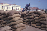 Luanda, coffee beans bagged for export