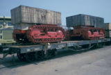 Luanda, machinery transported via railway
